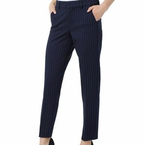 Liverpool Kelsey knit pinstripe trouser pant